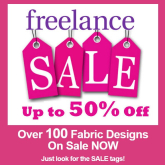 Now is the perfect time to stock up on fabric at the Freelance, Farnham Summer SALE
