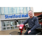 FORMER SOLDIER MARKS DECADE OF VOLUNTEERING WITH SHOPMOBILITY