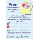 FREE Accessible Mind, Body & Soul Event!