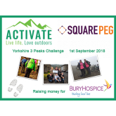 Square Peg Associates complete The Yorkshire 3 Peak Challenge and raise over £1,800 for Bury Hospice