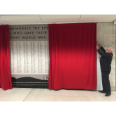 WW1 Mural Unveiled at The Ashley Centre #Epsom @Ashley_Centre