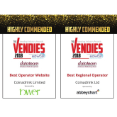 Coinadrink have been highly commended by The Vendies!