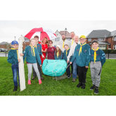REDROW PUTS NEW ROOFS OVER SCOUTS' HEADS