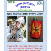 Bourne Hall Museum Kids Club Program for New Year to Easter 2019
