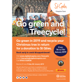BUSINESSES URGED TO GIVE ST GILES HOSPICE AN EARLY CHRISTMAS PRESENT BY VOLUNTEERING FOR TREECYCLE