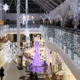Charity partnerships at intu Watford, including a colour changing tree when you donate!