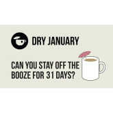 1st January Heralds the beginning of Dry January, No not precipitation. The other kind of dry!
