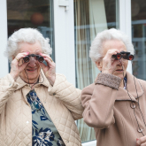 Cheadle care home residents flock together for birdwatch