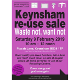 Waste not, Want not re-use sale in Keynsham