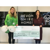West Country house builder raises over £25,000 for  Children's Hospice South West