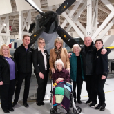 Flying high - Ruth and Eamon help a local care home resident fulfil dream to see a vintage plane
