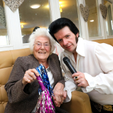 Elvis is in the building for a surprise afternoon of Rock 'n' Roll at Kenilworth care home