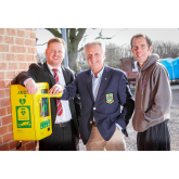 REDROW DONATES TOWARDS DEFBRILATOR IN SANDBACH