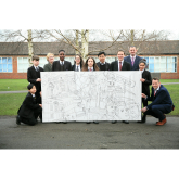 SCHOOL CHILDREN DESIGN ARTWORK FOR TWO GIANT MURALS TO CELEBRATE MANCHESTER ICONS AS PART OF STRETFRD MALL REDEVELOPMENT