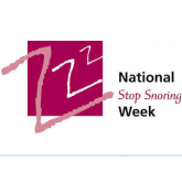 National Stop Snoring Week starts on Monday April 22nd