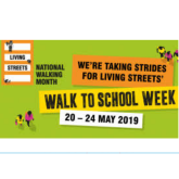 Monday 20th May is the start of Walk to School Week