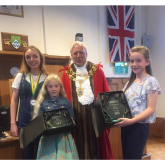 Congratulations to Lucy, Grace and Emily at the Mayor's Young Champion Awards #Epsom @EpsomDivision @GGSurreyEast