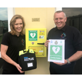 Defibrillator donated to Mid Wales holiday park in memory of Shropshire man
