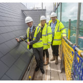 Trafford Mayor Celebrates 'topping out' of £7million Sale Care Home