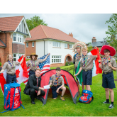 SCOUTS HAVE REDROW IN THEIR CAMP