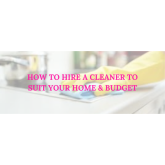 How to hire a cleaner in Shrewsbury to suit your home and budget