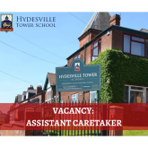 Assistant Caretaker Vacancy at Hydesville Tower School