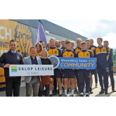 Salop Leisure renews support for Shrewsbury Town in the Community