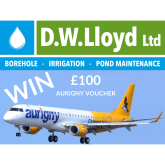 WIN £100 AURIGNY VOUCHER COURTESY OF D.W. LLOYD LTD