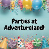 Children's parties in Walsall from just £79.99 at Adventureland in Walsall!