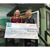 Caravan and motorhome show customers raise £620 for local cancer charity