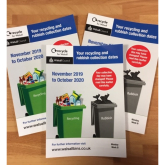 When will my rubbish and recycling bin be emptied from November 2019 in Walsall
