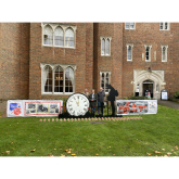 Installation at Hertford Castle to Commemorate Remembrance Sunday