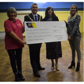 The Rotary Club Of #Epsom Presents Cheque To My Time For Young Carers @EpsomRotary @MyTime4YC