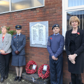 RAF Air Cadet Remembrance Day Salute at Brownhills School