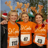 FAMILIES KICK OFF FESTIVE FUN WITH ST GILES HOSPICE RUDOLPH RUN AT TAMWORTH CASTLE