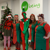 Staff at Welbeing take an 'elfie' in support of the Alzheimer's Society