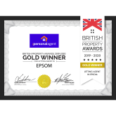 The Personal Agent Lettings and Management Team win The British Property Awards for #Epsom and #Banstead #LettingAgents