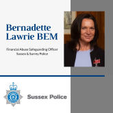 East Sussex Against Scams Partnership – Speaker Bernadette Lawrie BEM