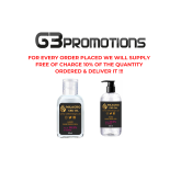 55ml & 300ml Hand Sanitiser gel promo by G3PROMOTIONS.CO.UK