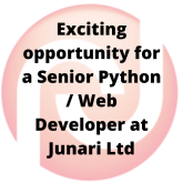 Exciting opportunity for a Senior Python / Web Developer!