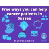 Free ways you can help cancer patients in Sussex