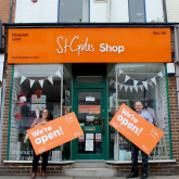 FUNDING BOOST FOR ST GILES HOSPICE AS SHOPS BEGIN TO RE-OPEN