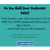 Do you keep your customer data?