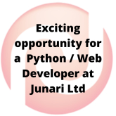 Exciting opportunity for a Python / Web Developer!