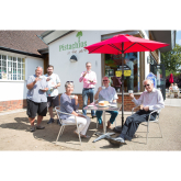 CHEERS! #Banstead Village in Bloom enjoy a cuppa at Pistachios in the Park