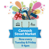 Cannock's Tuesday street market to return