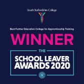 South Staffordshire College, scoops best Further Education College for Apprenticeship Training award at The School Leaver Awards!