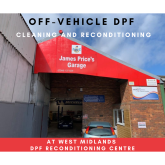 Off Vehicle DPF Cleaning and Reconditioning now available at James Price's Garage