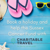 Book a holiday and help the Sussex Cancer Fund with Charitable Travel