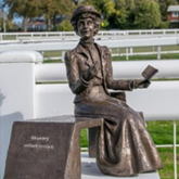The making of the Emily Davison sculpture for #Epsom  – see the artist at work @EmilyMemorial #RememberEmily